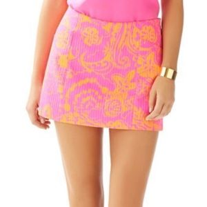 "Lilly Pulitzer ""Seaesta"" January Skort - Hot pink"